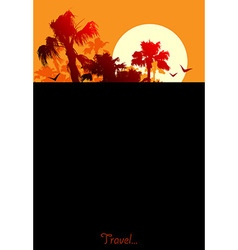 background with palms vector image