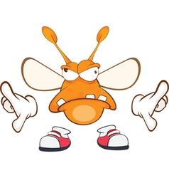 Funny clothes moth cartoon vector