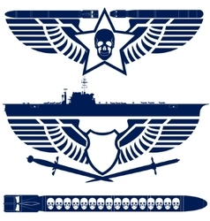 Abstract icons Navy vector image