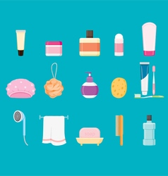 Bathroom equipments set vector image vector image