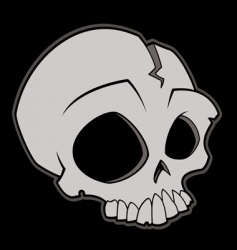 cartoon skull vector image vector image