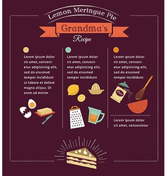 Chalkboard meal recipe template design vector image