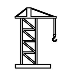construction crane service icon vector image
