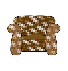 Couch seat armchair comfort furniture image vector