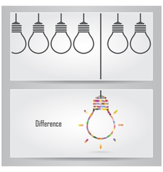 Creative light bulb Idea concept banner vector image vector image