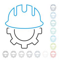 Development hardhat line icon vector