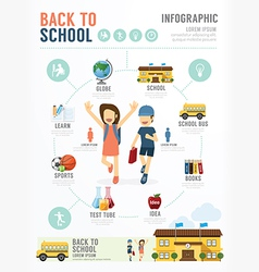 Education School Template Design Infographic vector image vector image
