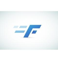 Fast line logo f monogram icon vector