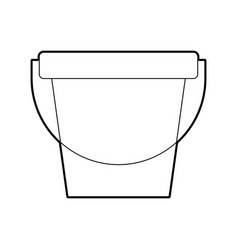 Laundry bucket isolated icon vector