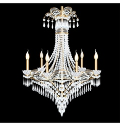 modern chandelier with crystal pendants vector image vector image