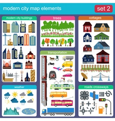 Modern city map elements for generating your own vector image