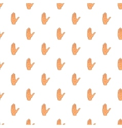 Open palm pattern cartoon style vector