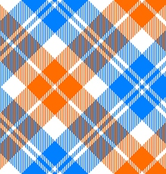 orange and blue light tartan diagonal seamless vector image vector image