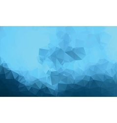 Polygonal blue background low poly style vector