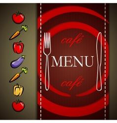 restaurant menu design with vegetables vector image vector image