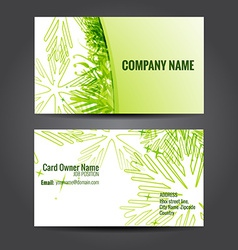 stylish green business template vector image vector image