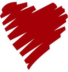 Stylized heart vector