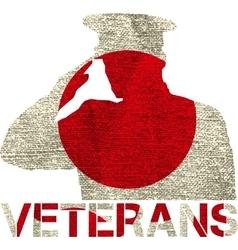 Veterans flag sign vector