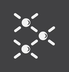 White icon on black background atomic energy vector