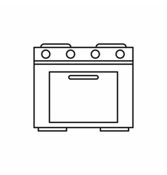 Kitchen stove icon outline style vector