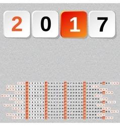 2017 Year Calendar Template Seamless stone vector image