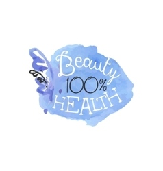 Percent health beauty promo sign vector