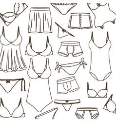 Pattern with swimming clothes unisex vector