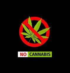 No cannabis sign vector