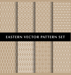 Eastern hexagon pattern pack vector