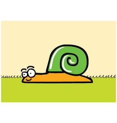 Happy snail cartoon vector
