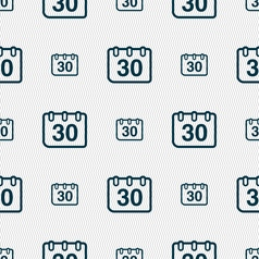 Calendar icon sign seamless pattern with geometric vector