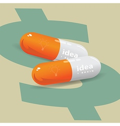 Idea drug for business vector