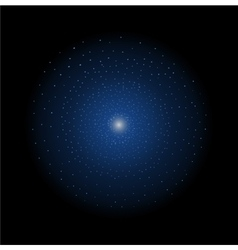 Star shining dark blue vector