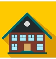 Two-storey house flat icon vector