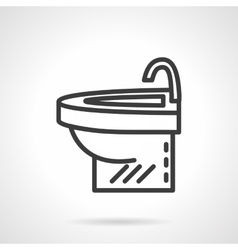 Simple washstand black line design icon vector