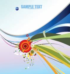 Colored background vector