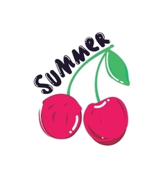Popular summer berry vector