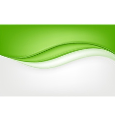 Abstract green wave background vector image vector image