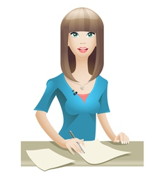 Anchorwoman vector image