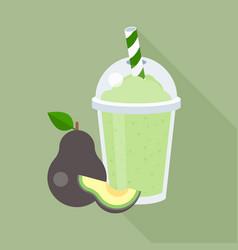 avocado smoothie vector image vector image