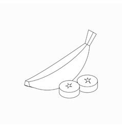 Banana icon isometric 3d style vector image