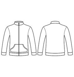 Blank sweatshirt template vector