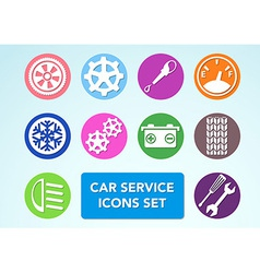 Car minimalistic icons set vector image