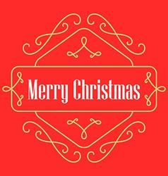 Christmas monograms Festive Card Lineart holiday vector image vector image