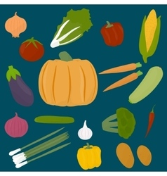 Collections of veggies vector image