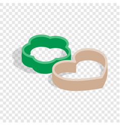 Cookie cutters isometric icon vector