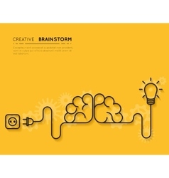 Creative brainstorm concept vector image