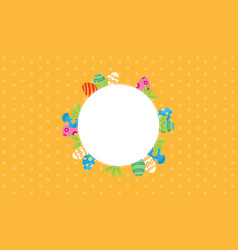 Easter theme frame vector