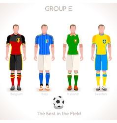 EURO 2016 GROUP E Championship vector image vector image