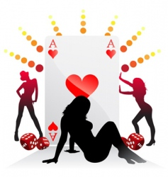 gambling illustration vector image vector image